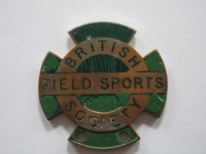 BRITISH FIELD SPORTS SOCIETY CAR BADGE