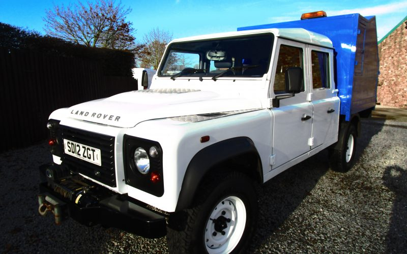 Land Rover Defender 130TD Double Cab 4×4 Alloy Tipper with Winch – ex Council
