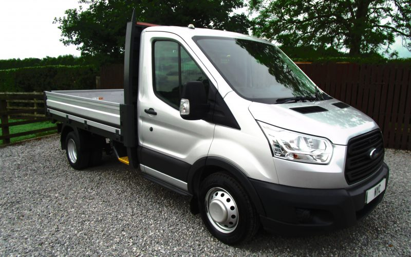 Ford Transit 350 MWB One Stop Dropside Truck in Silver 125ps 6 Speed Gearbox