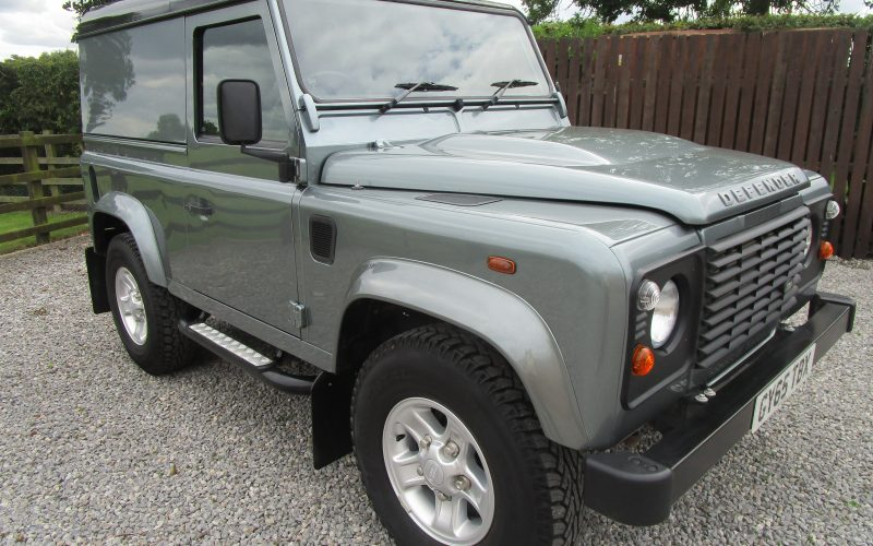 Land Rover Defender 90 Hard Top TD 4×4 Utility in Scotia Grey with Black Roof