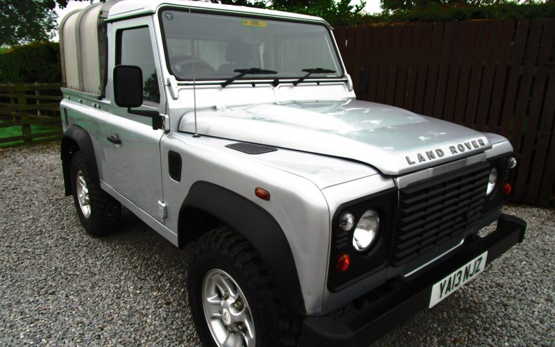 Land Rover Defender SWB 90 Pick Up with Ifor Williams Top and Tow Bar with Electrics