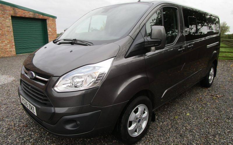 Ford Transit Custom 290 Limited Tech Van L2 H1 with Side Windows in Metallic Grey